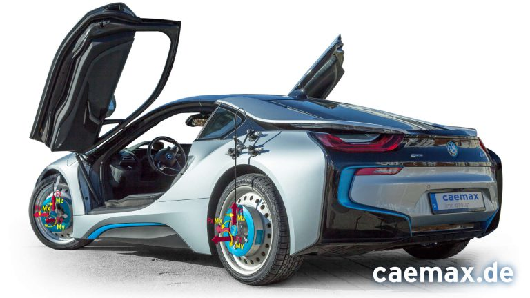 Messrad WFT-Cx am BMW i8